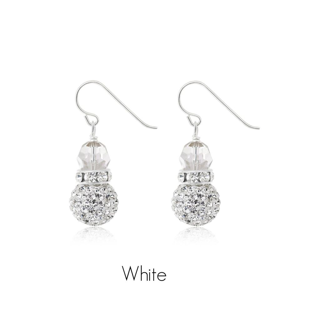 Hillberg & Berk Sparkle Ball Drop Earrings