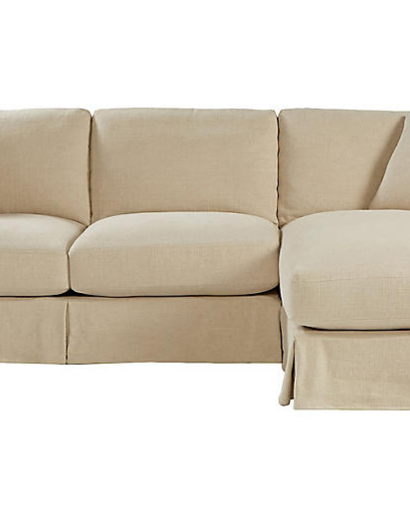 NELSON SECTIONAL - NUBBY NATURAL W3 - COMFORT DREAM
