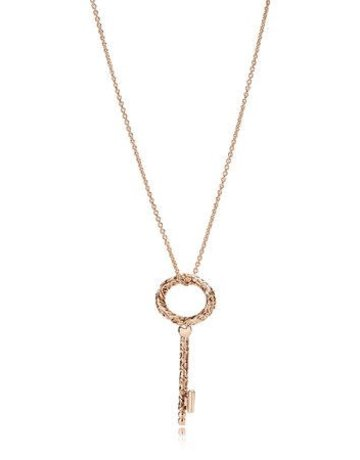 Pandora Retired - PANDORA Rose Necklace, Regal Key - 90 cm / 35.4 in