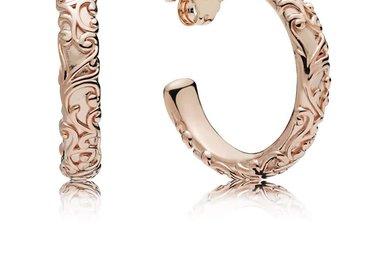 PANDORA Rose Hoop Earrings, Regal Beauty