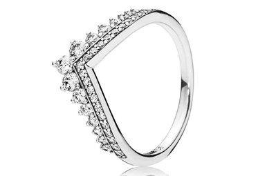 PANDORA Ring, Princess Wish, Clear CZ - Size 52