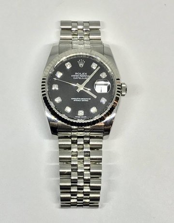 American Jewelry Rolex Datejust 116234 (36mm) Stainless Diamond Black Dial