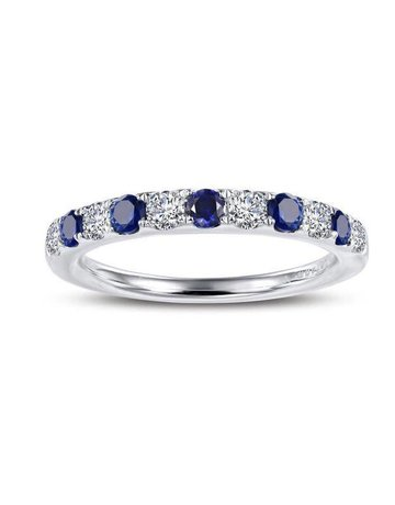 Lafonn Lafonn September Birthstone Band, Lab Sapphire & Simulated Diamonds .51ctw, Sterling Silver