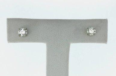 14k Gold (V) 1/2ctw Round Brilliant Diamond Stud Earrings