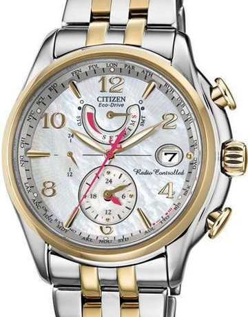 Citizen Citizen Eco-Drive Radio Controlled Ladies Two-Tone Watch with Mother of Pearl Dial