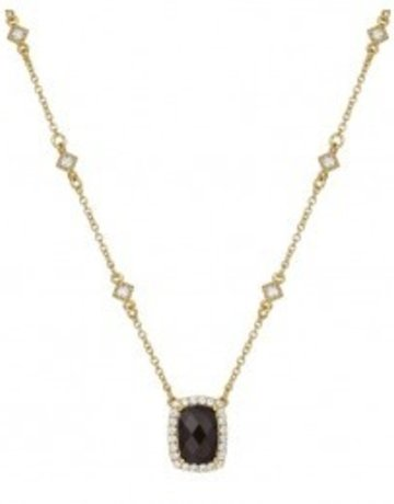 Lafonn Lafonn 4.03cttw 25 Stone Cushion Smoky Quartz Necklace