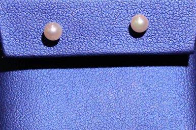 14kw 4mm Pearl Earrings