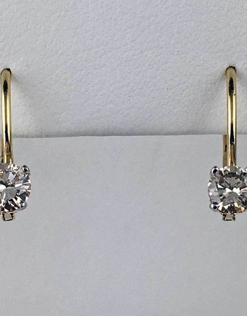 14ky 1/3ctw Lever Back Earrings
