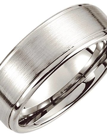 American Jewelry Cobalt Satin w/Ridges Wedding Band