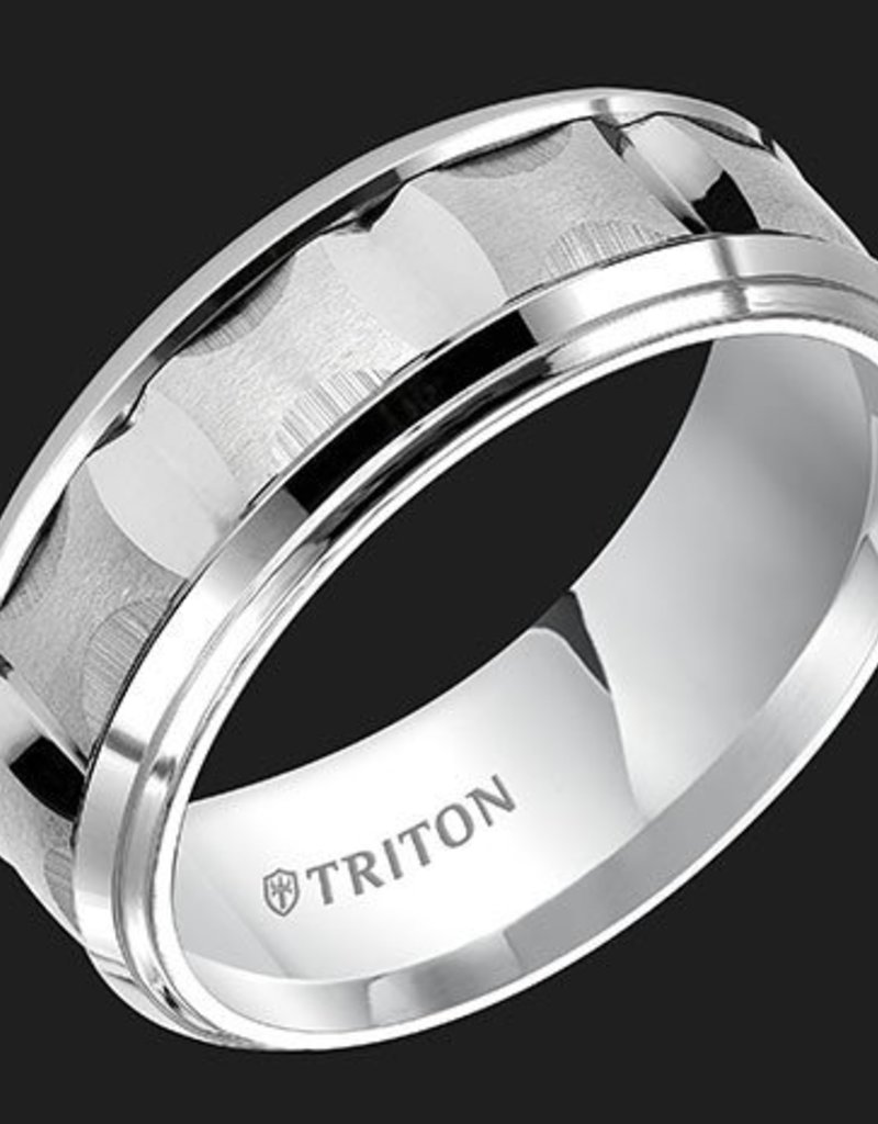 It is a picture of White Tungsten 41mm Gents Triton Wedding Band (Size 41)