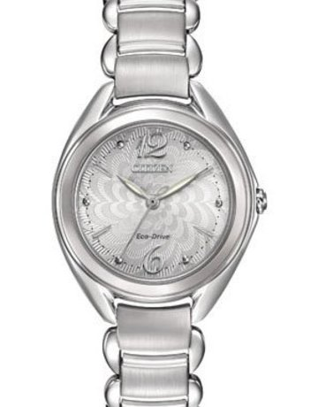 Citizen Citizen Eco-Drive Ladies Watch with Silver Floral Dial