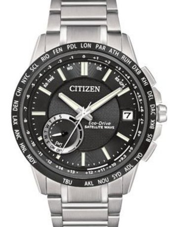 Citizen Citizen Eco-Drive Satellite Wave World Time GPS Gents Watch with Black Dial
