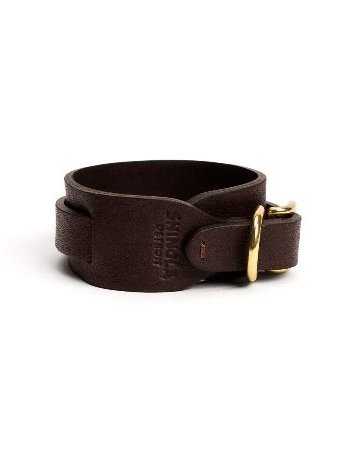 Shinola Shinola Wide Double Wrap Leather Bracelet Color: Deep Brown