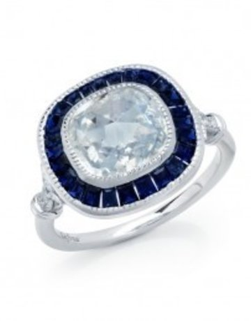 Lafonn Lafonn 5.07cttw 35 Stones Sapphire Ring