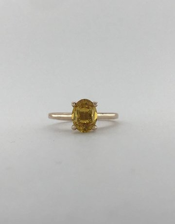 American Jewelry 14k Rose Gold 1.25ct Oval Citrine Fashion Ring (size 4.5)
