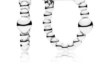 PANDORA Hoop Earrings, String of Beads