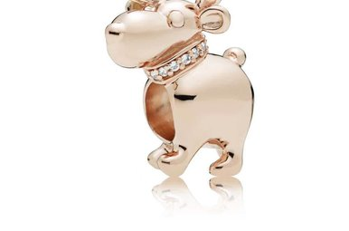 PANDORA Rose Charm, Happy Reindeer, Clear CZ