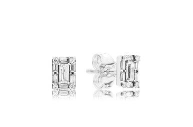 PANDORA Stud Earrings, Luminous Ice, Clear CZ