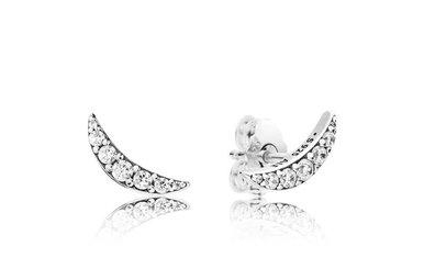 PANDORA Stud Earrings, Lunar Light, Clear CZ
