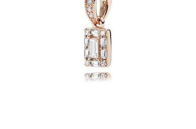 PANDORA Rose Pendant, Luminous Ice, Clear CZ