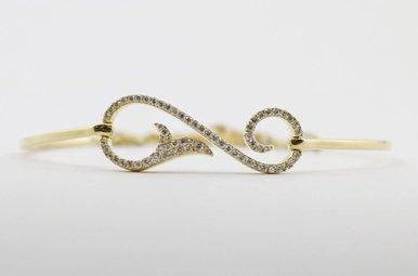 14ky .51ctw Round Brilliant Diamond Ladies Adjustable Bracelet