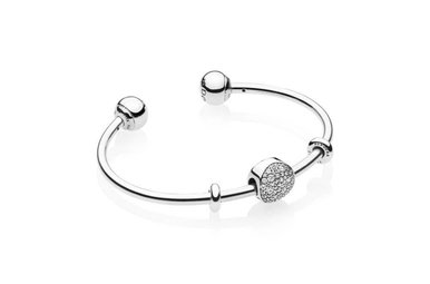 PANDORA Wintry Holiday Open Bangle Gift Set - 17.5 cm / 6.9 in
