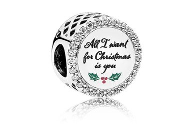 PANDORA Charm, All I Want for Christmas, Clear CZ