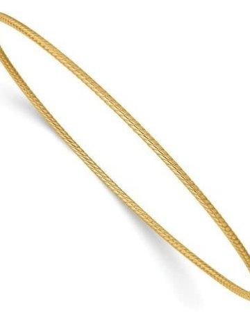 14k Yellow Gold Twisted Lightweight Bangle Bracelet