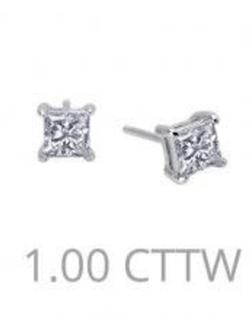 Lafonn Lafonn Sterling Silver 1cttw Stone Princess shaped Stud Earrings