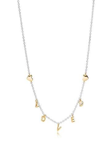 Pandora PANDORA Shine Necklace, Loved Script - 50 cm / 19.7 in
