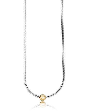 Pandora PANDORA Shine & Sterling Silver Snake Chain Necklace - 50 cm / 19.7 in