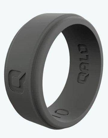 QALO QALO Silicone Step Edge Charcoal Grey Ring (size 10)