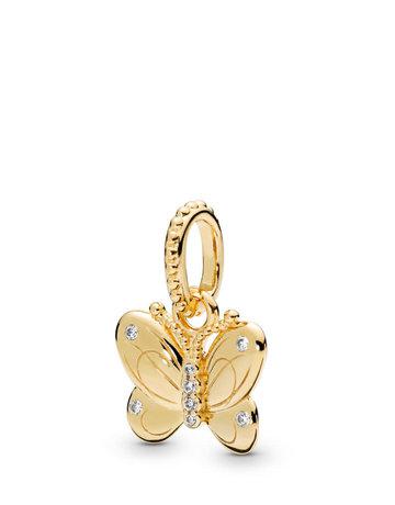 Pandora PANDORA Shine Pendant, Decorative Butterfly, Clear CZ