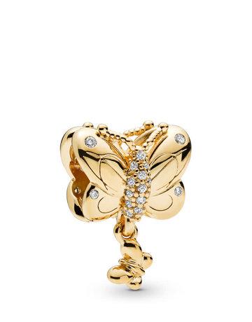 Pandora PANDORA Shine Charm, Decorative Butterfly, Clear CZ
