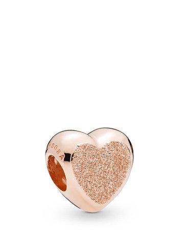 Pandora PANDORA Rose Charm, Matte Brilliance Heart