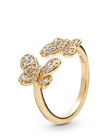 Pandora PANDORA Shine Ring, Dazzling Butterflies, Clear CZ - Size 56