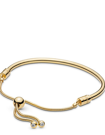 Pandora PANDORA Shine Sliding Bangle Bracelet, Clear CZ - 8.3 in