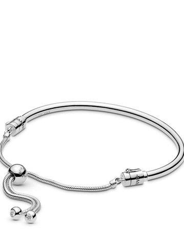 Pandora PANDORA Sliding Bangle Bracelet, Clear CZ - 8.3 in
