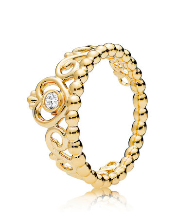 Pandora PANDORA Shine Ring, My Princess Tiara, Clear CZ - Size 54
