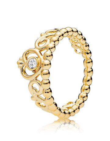 Pandora PANDORA Shine Ring, My Princess Tiara, Clear CZ - Size 56