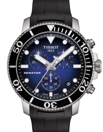 Tissot Tissot Seastar 1000 Chronograph Gents Watch with Black Rubber Strap