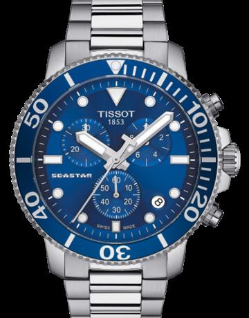 Tissot Tissot Seastar 1000 Chronograph Gents Watch with Blue Dial & Bezel