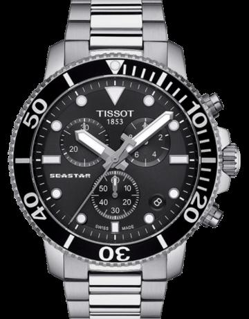 Tissot Tissot Seastar 1000 Chronograph Gents Watch with Black Bezel & Dial
