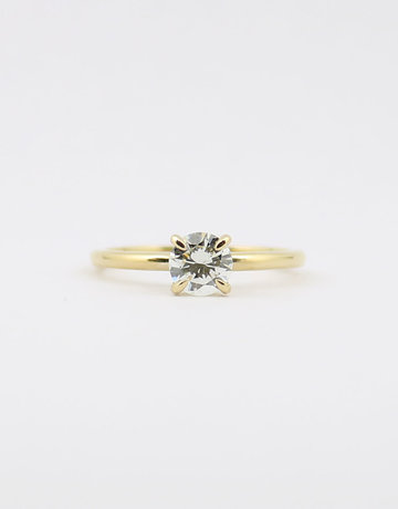 American Jewelry 14k Yellow Gold .62ct L/VS2 Round Brilliant Diamond Solitaire Engagement Ring (Size 6.5)