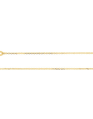 "American Jewelry 14k Yellow Gold 1mm Diamond Cut Cable Chain (16"")"