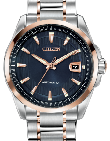 Citizen Citizen Automatic Grand Classic Gents Two-Tone Watch with Blue Dial