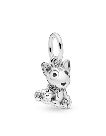 Pandora PANDORA Charm, Bull Terrier Puppy Dog, Black Enamel