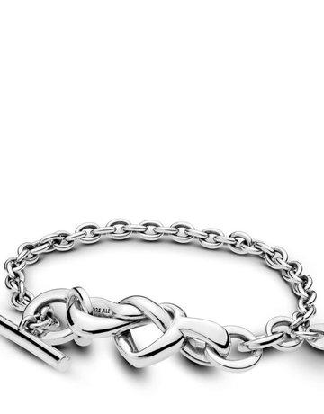 Pandora PANDORA Bracelet, Knotted Heart - 18 cm / 7.1 in