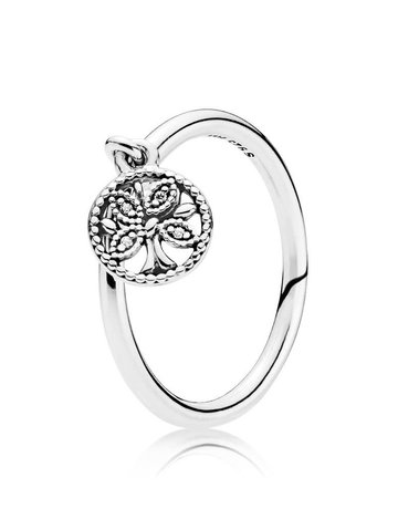 Pandora PANDORA Ring, Tree of Life, Clear CZ - Size 54