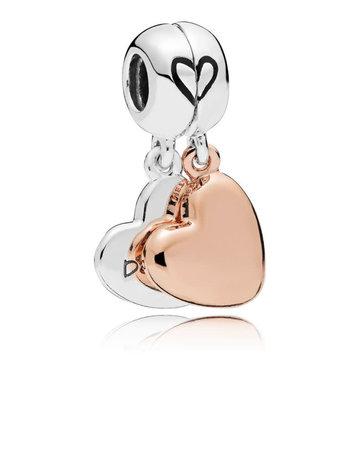 Pandora PANDORA Rose Charm, Mother & Daughter Love, Black Enamel